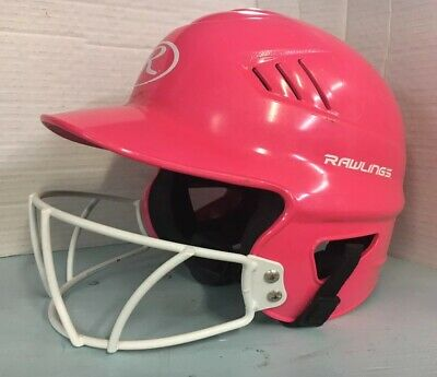 $14.25 • Buy Girl's Youth Pink Softball Helmet With Mask Rawlings Pre Owned 6 1/2  - 7 1/2