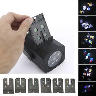 $10.99 • Buy New 6pcs Patterns LED Laser Stage Light Snowflake Projector Indoor Lamp US Stock