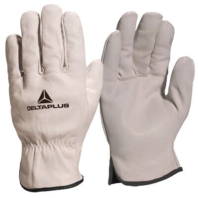 2 X Pairs Drivers Safety Work Gloves Full Grain Leather Unlined Truck HGV Driver • 9.79£