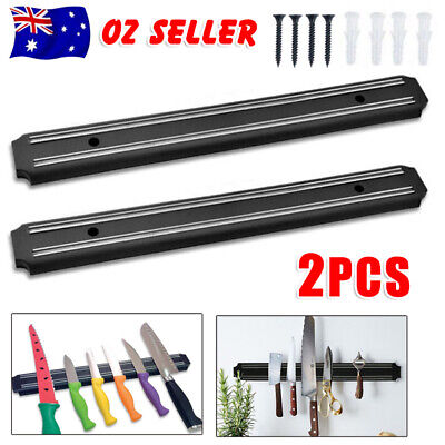 AU15.95 • Buy 2X Magnetic Knife Rack Magnet Wall Mount Holder Strip Utensil Shelf Kitchen Tool
