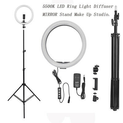 AU25.99 • Buy 14  5500K Dimmable Diva LED Ring Light Diffuser MIRROR Stand Make Up Studio