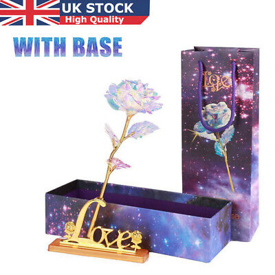 Valentine's Day Galaxy Rose Romantic Crystal Flower Lovers Rose With Gift Box UK • 9.99£