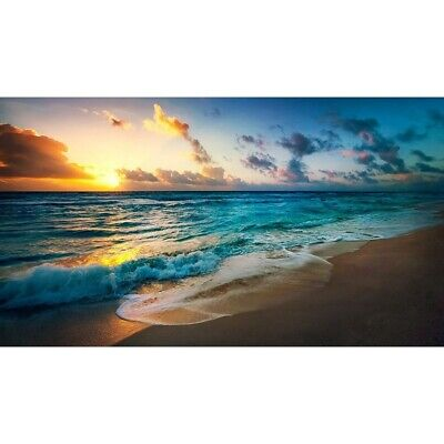 AU12.69 • Buy Full Drill Beach Sunset DIY 5D Diamond Painting Home Decor Embroidery Kits Gifts