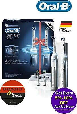AU374.99 • Buy New Oral B Oral B Genius 8000 Electric Toothbrush 2 Handle Pack Incl. 4 Brush H