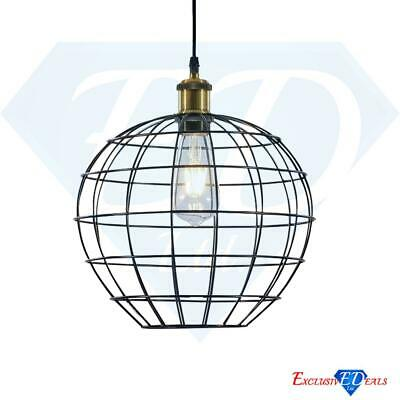 £13.95 • Buy Industrial Vintage Wire Cage Multi-Function Retro Lamp Light Shade Black Globe
