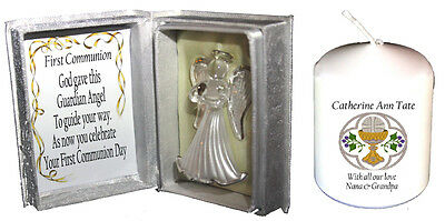 1st Holy Communion Unusual Gift  Crystal Angel & Free Holy Communion Candle  • 22.45£