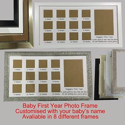 £25 • Buy Baby First Year Photo Frame Personalised Name Baby Scan Newborn