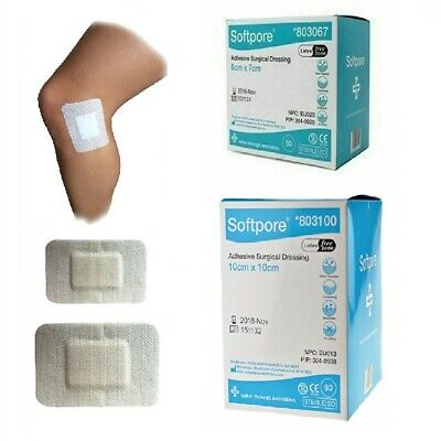 £4.57 • Buy Softpore Adhesive Sterile Wound Dressings - First Aid Plasters Cuts & Burns