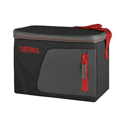 AU21.95 • Buy 100% Genuine! THERMOS Radiance 6 Can Cooler Black With Red Trim!