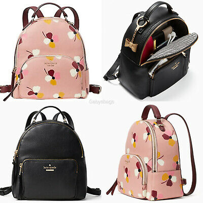$ CDN149.13 • Buy Kate Spade Jackson Medium Pebbled Leather Backpack Pink Floral