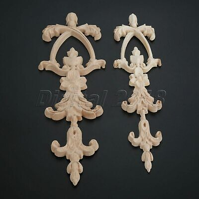 $3.95 • Buy Exquisite Wood Carved Decal Onlay Applique Window Frame Furniture Decoration
