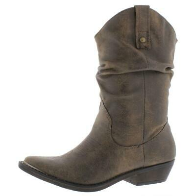 $10.99 • Buy American Rag Womens Kallie Faux Leather Cowboy, Western Boots Shoes BHFO 2027