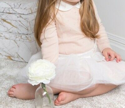 £29.99 • Buy Mintini Baby Girl - Pearl Embellished Pink Dress - Luxurious Baby Occasion Wear