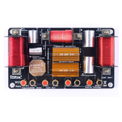 $ CDN115.98 • Buy 1800W Dual Bass 2 Way 3 Unit High-Low Speaker Frequency Divider Crossover Filter