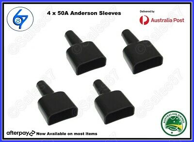 AU8.95 • Buy 4 X Waterproof Anderson Plug Dust Cable Sheath Covers Black