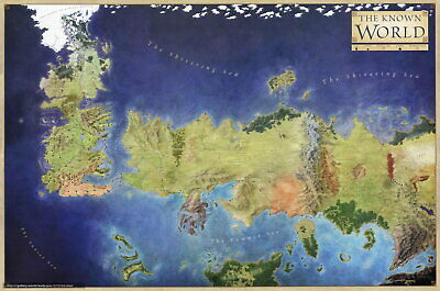 £12.95 • Buy 60723 Game Of Thrones The Known World Map Wall Print POSTER UK