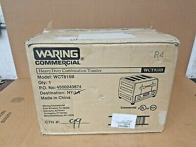 Waring WCT815b Heavy Duty Combination Toast Bagel Toaster 208 Volt Commercial  • 249.99$