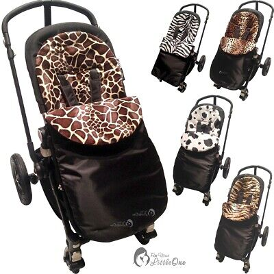 Pushchair Animal Print Footmuff / Cosy Toes Compatible With ICandy • 11.99£