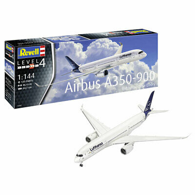 REVELL Airbus A350-900 Lufthansa  New Livery  1:144 Aircraft Model Kit 03881 • 20.95£