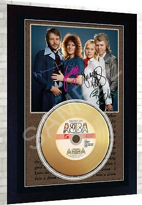Abba Mini Gold Vinyl CD Record Signed Framed Photo Print Perfect Gift • 19.99£
