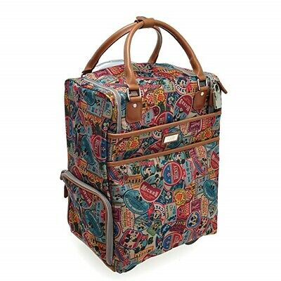£189.06 • Buy Disney Mickey Mouse Travel Vintage Luggage 16  Carry On Bag Suitcase Trolley