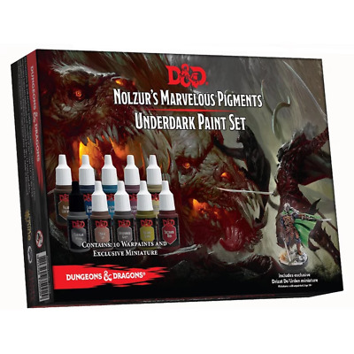AU44.95 • Buy Dungeons & Dragons Nolzurs Marvelous Pigments Monster Underdark Paint Set NEW