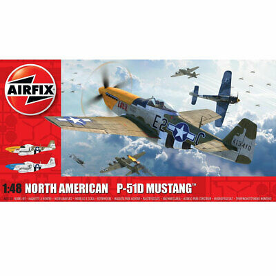 AIRFIX A05138 Nth American P51-D Mustang Filletless Tail 1:48 Aircraft Model Kit • 22.75£