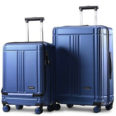Hard Shell Suitcase 4 Wheel Travel Luggage Trolley Lightweight Case TSA Lock • 39.99£