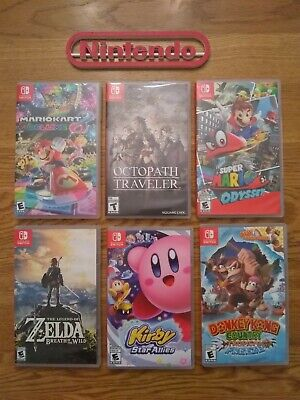 $75 • Buy Nintendo Switch 6 Cases (no Games) Lot!