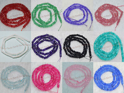 $ CDN3.32 • Buy Lots Natural 2x4mm Multi-Color Faceted Gemstone Abacus Rondelle Loose Beads 15