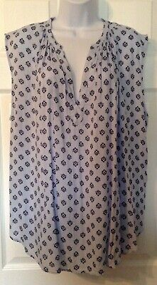 L.O.G.G. Label Of Graded Goods H&M Size 16 Blue Floral Print Tank Top  • 7$