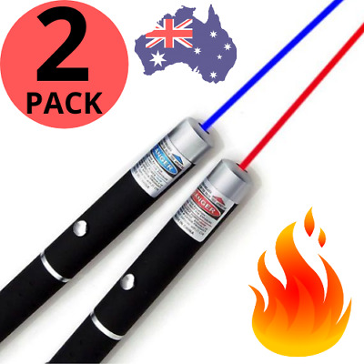 AU14.95 • Buy 🔥 PREMIUM LASER POINTER Blue Red 1mW LAZER Beam HIGH Power Pen Cat Toy AUS 100%