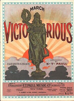 $39.99 • Buy March VICTORIOUS 1919/1923 E T PAULL Elizabeth Black Sheet Music!
