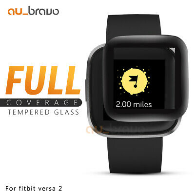 AU4.45 • Buy For Fitbit Versa 2 2019 Screen Protector 9H Tempered Full Coverage Glass Guard