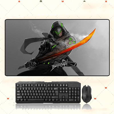AU33.49 • Buy GAME Overwatch OW Genji Extra Large Mouse Pad Free Shipping(31.5'' * 15.7'')