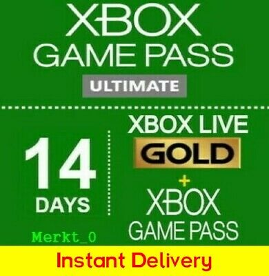 $3.80 • Buy Xbox Game Pass Ultimate 14 Days + Xbox Live Gold Xbox One_PC / Instant Delivery
