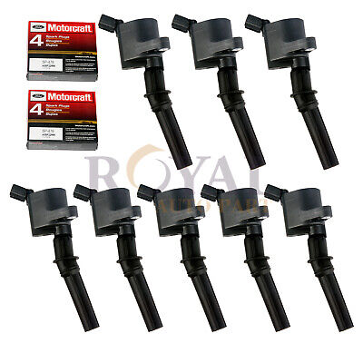 $76.99 • Buy 8 Ignition Coils And MOTORCRAFT SPARK PLUG SP479 Fits Various Ford Lincoln 5.4lL