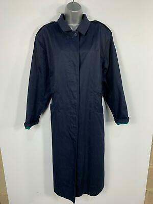 £18.49 • Buy Womens Country Style Hucke Navy Blue Casual Long Maxi Button Coat Size 42 Uk 14
