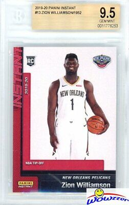 $34.95 • Buy ZION WILLIAMSON 2019 Panini #13 NBA Tip Off NEW ORLEANS ROOKIE BGS 9.5 GEM MINT