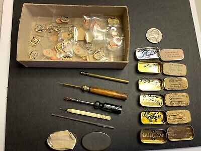 $ CDN36.13 • Buy Vintage Watch Parts & Tools, Hands & Rectangular Crystals, Tiny Drivers And Pick