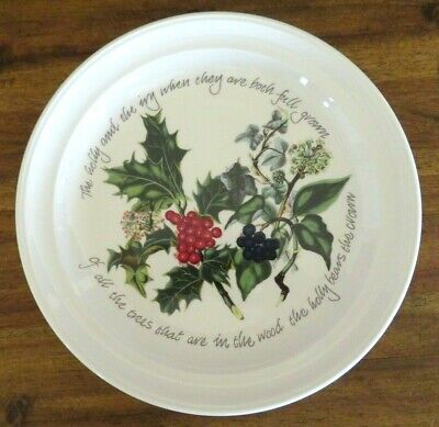 Multiples Avail, New Nwt Portmeirion The Holly & Ivy Salad Plate, Xmas Holiday • 16.99$