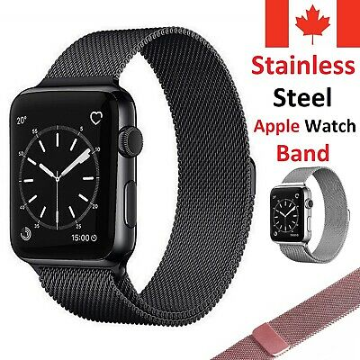 $ CDN10.99 • Buy Magnetic Stainless Milanese Band Loop Strap For Apple Watch Series 1 2 3 4 5