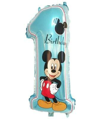 AU4.99 • Buy Disney Mickey Mouse 1st Birthday Large 29  Foil Balloon Boy Party Decoration
