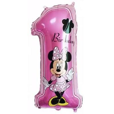 AU4.99 • Buy Disney Minnie Mouse 1st Birthday Large Foil Balloon Girl Party Decoration 013
