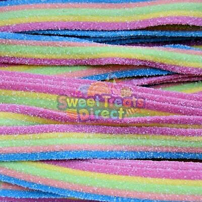 Rainbow Belts Sweets Sour Fizzy Pick And Mix Retro Wedding Party Treat Gifts • 4.19£