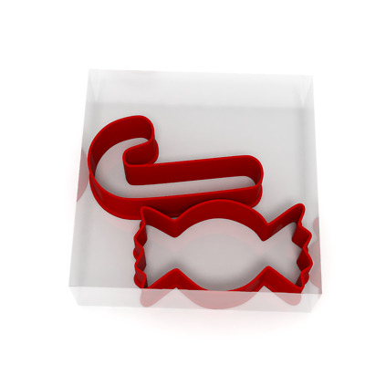 Candy Cane And Sweets Fondant Cutters Set 4 For Icing Cookie Or Cake Christmas • 4.99£