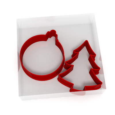 £4.99 • Buy Christmas Tree And Bauble Fondant Cutters Set Of 4 For Icing Cookie Or Cake