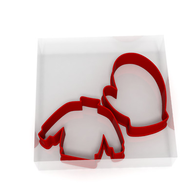 £4.99 • Buy Christmas Jumper And Mitten Fondant Cutters Set Of 4 For Icing Cookie Or Cake