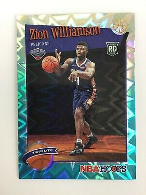 Zion Williamson Hoops Teal Explosion Tribute Rookie Card Rc Pelicans • 37.99$