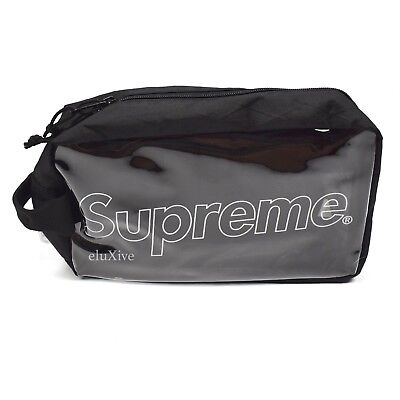$ CDN228.44 • Buy NWT Supreme NY Black Reflective Box Logo Print Clear Utility Bag FW18 AUTHENTIC